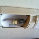LED bulb in RV fixture