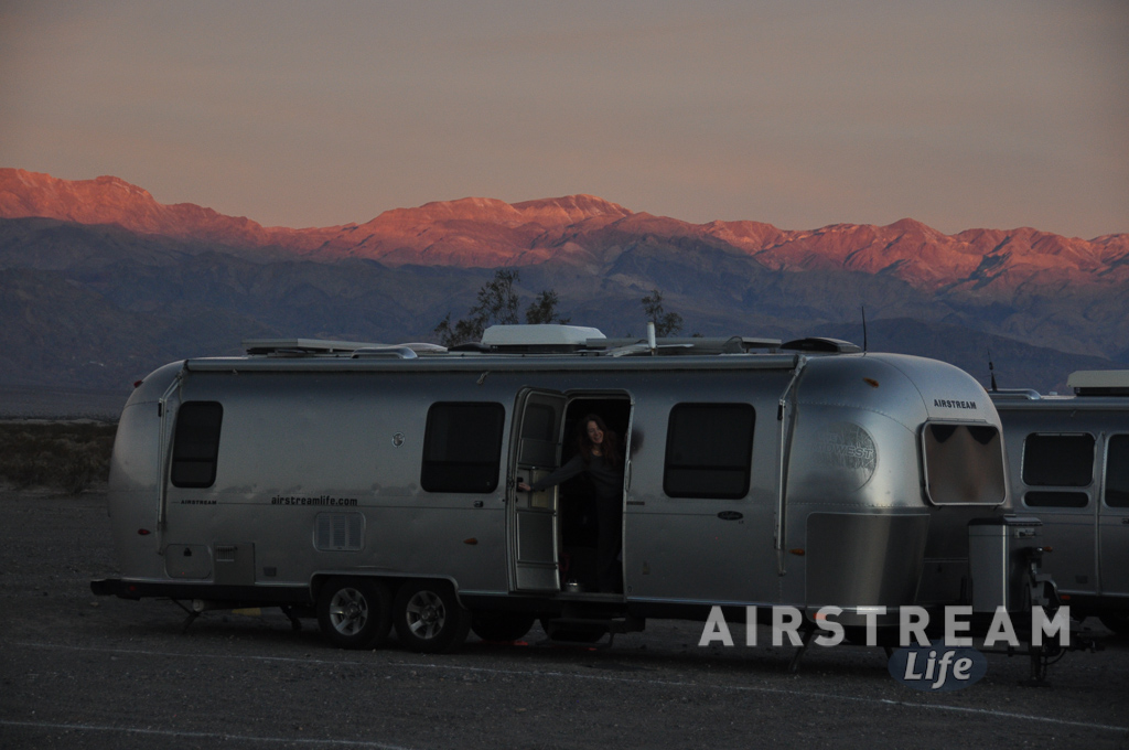 Death Valley Airstream at sunset